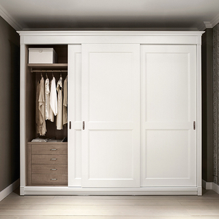 Solid Wood Hinge Door Wardrobe