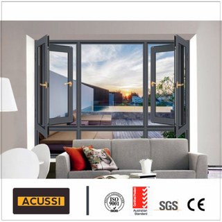 Thermal Break Aluminum Composite Casement Window with Mosquito Net
