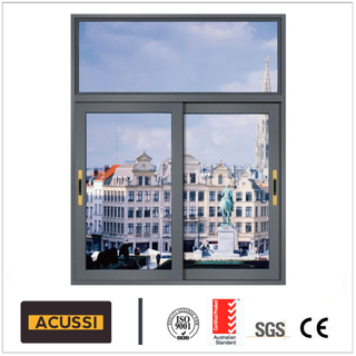 Double Tempering Glass Hot Sale Aluminum Sliding Window Waterproof Soundproof Exterior Window for Construction Project