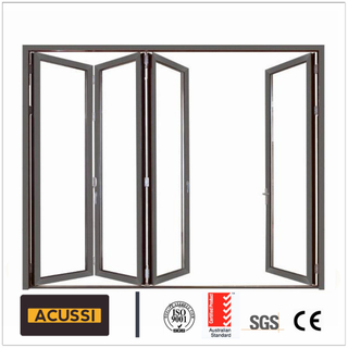 Laminated/Tempered Glass Aluminium Folding Doors Bi Fold Door with Australia