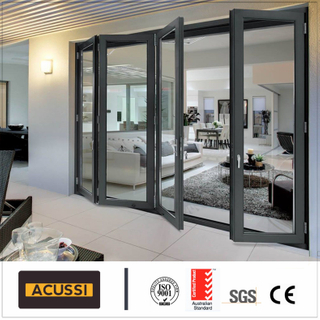 10 Years Guarantee Hurricane Proof Double Glazing Aluminum Folding Door