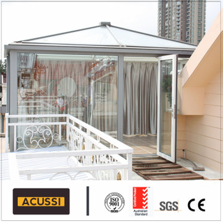 Round Roof Glass House Aluminum Sun Room Glass Balcony