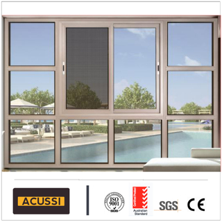Popular Design Cross Band Design Casement Window with Mosquito Net for House
