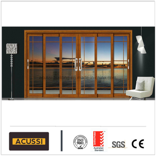 Hot Sale Double Glass Aluminium Sliding Door with Grills/Mosquito Net