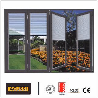 Aluminium Modern Design Heavy Folding Door with Soundproof System for House