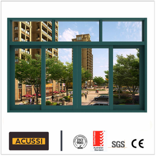 High Cost Performance  Aluminum Profile Sliding Window Soundproof System with Double Glass for Building Project