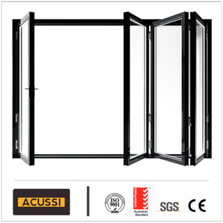 Sound-Proof Aluminium Heavy Folding Sliding Door for Villa House Hotel Building Project with Australia As2047 Standard